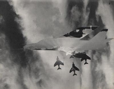 Michalis Pichler, clouds & sky #12, paper collage, 28x23cm
