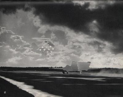 Michalis Pichler, clouds & sky #15, paper collage, 28x23cm