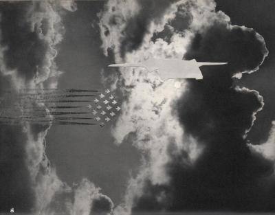 Michalis Pichler, clouds & sky #16, paper collage, 28x23cm