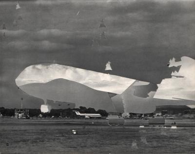 Michalis Pichler, clouds & sky #17, paper collage, 28x23cm