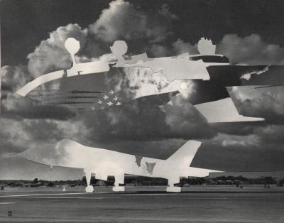 Michalis Pichler, clouds & sky #20, paper collage, 28x23cm