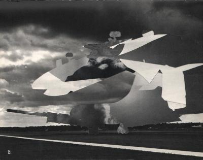 Michalis Pichler, clouds & sky #23, paper collage, 28x23cm