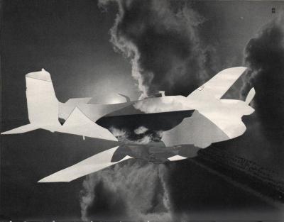 Michalis Pichler, clouds & sky #25, paper collage, 28x23cm