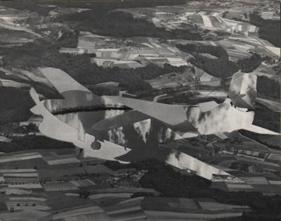 Michalis Pichler, clouds & sky #26, paper collage, 28x23cm