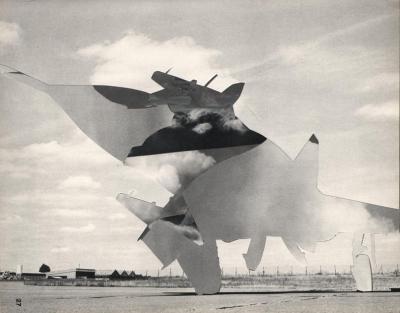 Michalis Pichler, clouds & sky #27, paper collage, 28x23cm