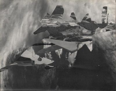 Michalis Pichler, clouds & sky #28, paper collage, 28x23cm