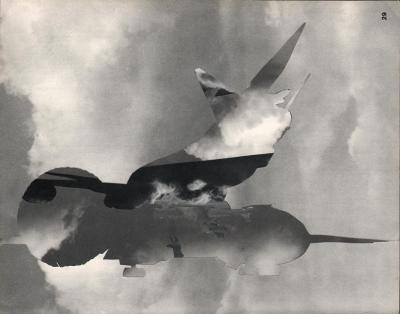 Michalis Pichler, clouds & sky #29, paper collage, 28x23cm