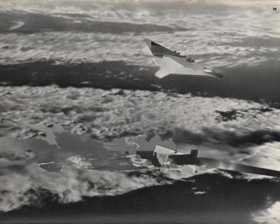 Michalis Pichler, clouds & sky #3, paper collage, 28x23cm