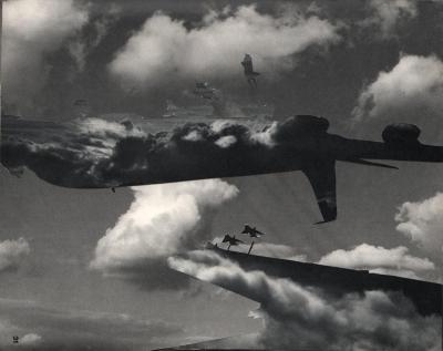 Michalis Pichler, clouds & sky #31, paper collage, 28x23cm