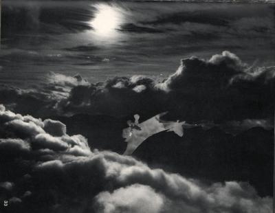 Michalis Pichler, clouds & sky #33, paper collage, 28x23cm