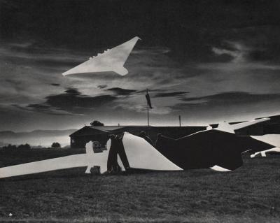 Michalis Pichler, clouds & sky #4, paper collage, 28x23cm
