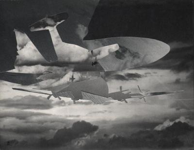 Michalis Pichler, clouds & sky #42, paper collage, 28x23cm
