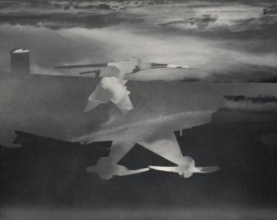 Michalis Pichler, clouds & sky #45, paper collage, 28x23cm