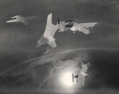 Michalis Pichler, clouds & sky #47, paper collage, 28x23cm