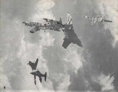 Michalis Pichler, clouds & sky #48, paper collage, 28x23cm