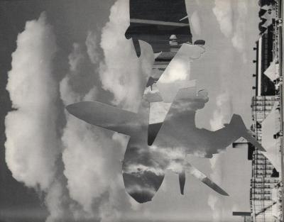 Michalis Pichler, clouds & sky #49, paper collage, 28x23cm
