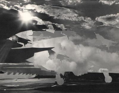 Michalis Pichler, clouds & sky #5, paper collage, 28x23cm
