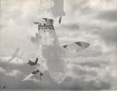 Michalis Pichler, clouds & sky #50, paper collage, 28x23cm
