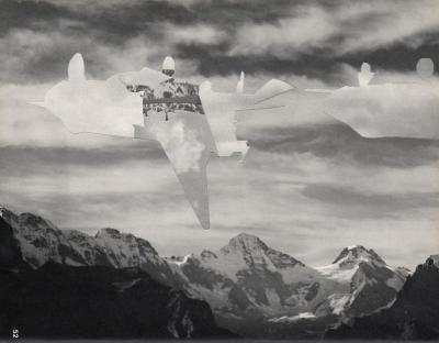 Michalis Pichler, clouds & sky #52, paper collage, 28x23cm