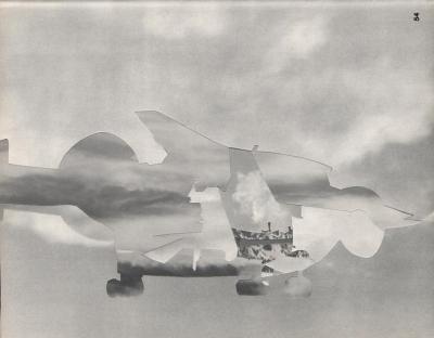 Michalis Pichler, clouds & sky #54, paper collage, 28x23cm