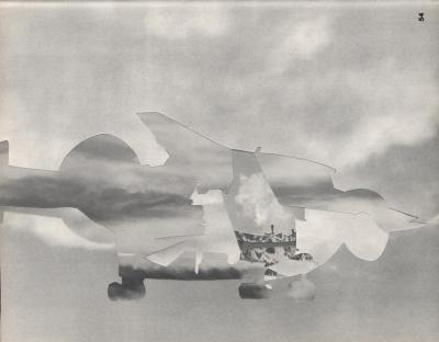 Michalis Pichler, clouds & sky #54, paper collage, 28x23cm