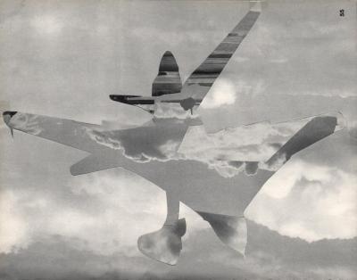 Michalis Pichler, clouds & sky #55, paper collage, 28x23cm