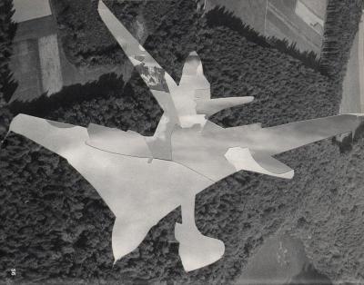 Michalis Pichler, clouds & sky #56, paper collage, 28x23cm