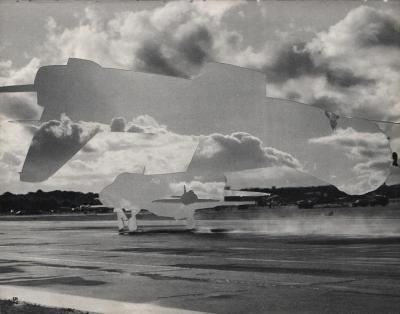 Michalis Pichler, clouds & sky #57, paper collage, 28x23cm