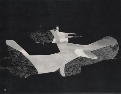 Michalis Pichler, clouds & sky #58, paper collage, 28x23cm
