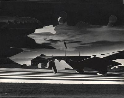 Michalis Pichler, clouds & sky #6, paper collage, 28x23cm
