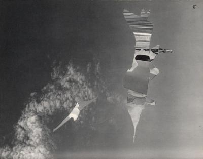 Michalis Pichler, clouds & sky #61, paper collage, 28x23cm