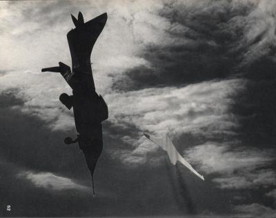 Michalis Pichler, clouds & sky #62, paper collage, 28x23cm