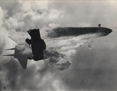 Michalis Pichler, clouds & sky #64, paper collage, 28x23cm
