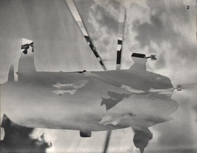 Michalis Pichler, clouds & sky #65, paper collage, 28x23cm