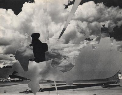 Michalis Pichler, clouds & sky #66, paper collage, 28x23cm
