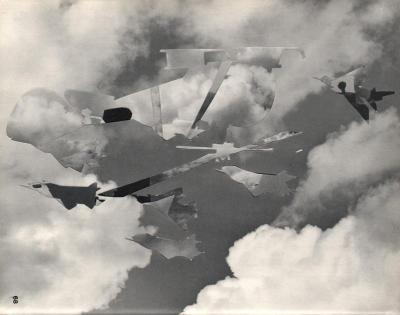 Michalis Pichler, clouds & sky #68, paper collage, 28x23cm