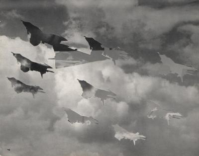 Michalis Pichler, clouds & sky #7, paper collage, 28x23cm