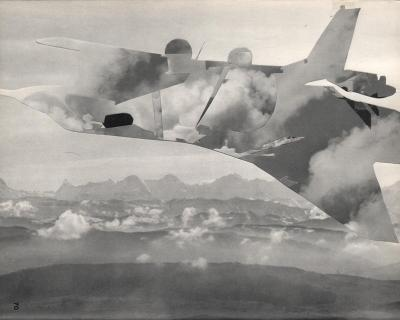 Michalis Pichler, clouds & sky #70, paper collage, 28x23cm