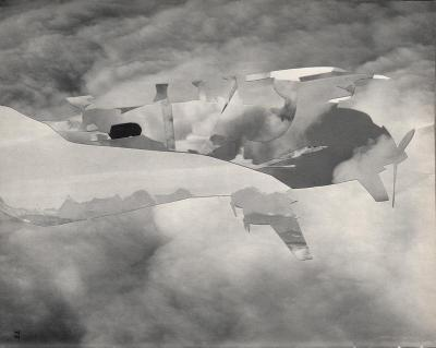 Michalis Pichler, clouds & sky #72, paper collage, 28x23cm