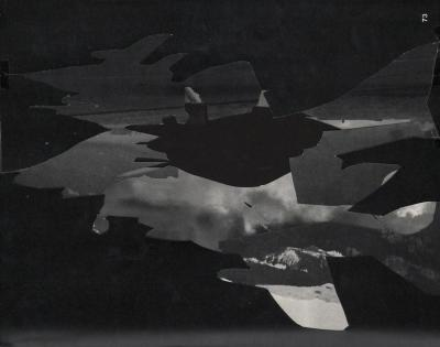 Michalis Pichler, clouds & sky #73, paper collage, 28x23cm