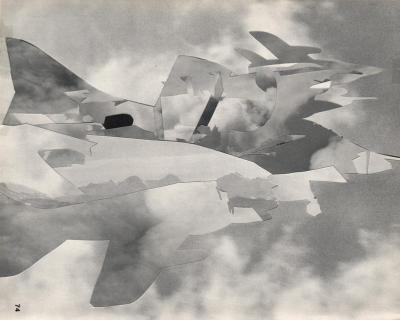 Michalis Pichler, clouds & sky #74, paper collage, 28x23cm