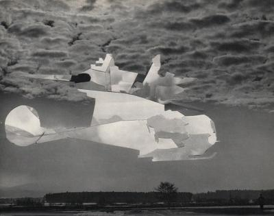 Michalis Pichler, clouds & sky #76, paper collage, 28x23cm