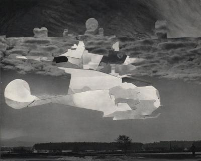 Michalis Pichler, clouds & sky #78, paper collage, 28x23cm
