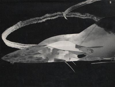 Michalis Pichler, clouds & sky #80, paper collage, 28x23cm