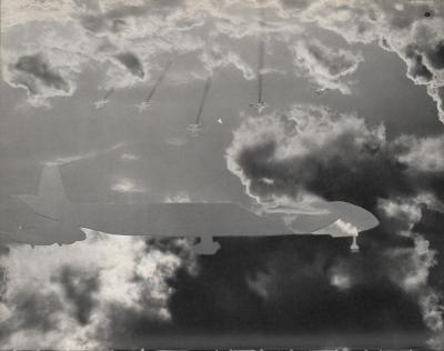 Michalis Pichler, clouds & sky #9, paper collage, 28x23cm