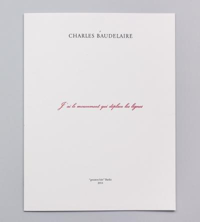 "Michalis Pichler, ≠ charles baudelaire (Berlin: ""greatest hits"", 2014)."