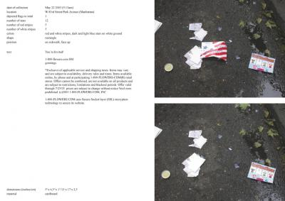 Michalis Pichler, stars & stripes / new york garbage flag profile 2 (Frankfurt: Revolver, Contemporary Art Publishing, 2005).