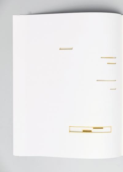 """Michalis Pichler, UN COUP DE DÉS JAMAIS N'ABOLIRA LE HASARD (sculpture) (Berlin: """"greatest hits"""", 2008)."""