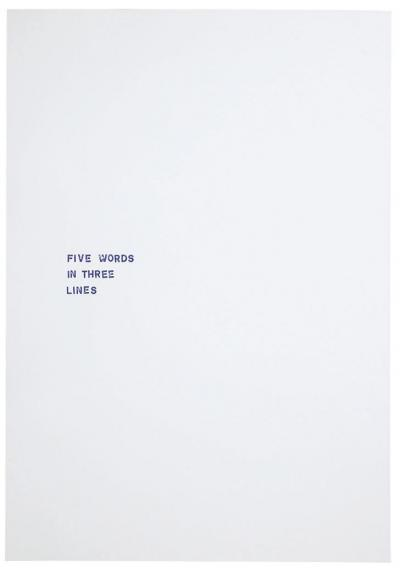 Pichler Michalis, A TWO THREE FOUR FIVE (Berlin: Quick Magazine, 2015).