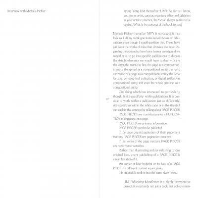 Pichler Michalis, Publishing Publishing Manifestos (Seoul: mediabus, 2019).